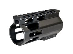 "4"" AR Pistol Free Float Handguard for AR-15 .223 / 5.56, ID 1.34"", 6.6oz"