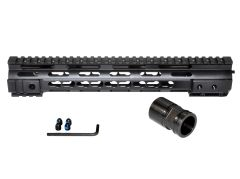 "12.5"" KeyMod Free Float Handguard Quad Rail Mount for .223 / 5.56 AR-15 - Black"