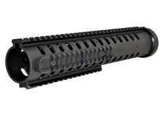 "12.8"" Free Float Round Handguard Quad Rail Mount for .223 / 5.56 AR-15 - Black"