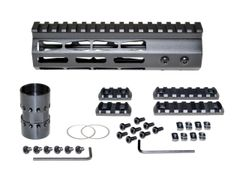 "7"" M-LOK Free Float Handguard for AR-15, ID 1.44"", 9oz, fits 223 / 5.56, Black"