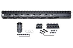 "17"" M-LOK Free Float Handguard for AR-15, ID 1.44"", 16oz, fits 223 / 5.56, Black"