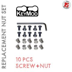 KeyMod Replacement / Spare Nut & Screw Set - 10 PACK