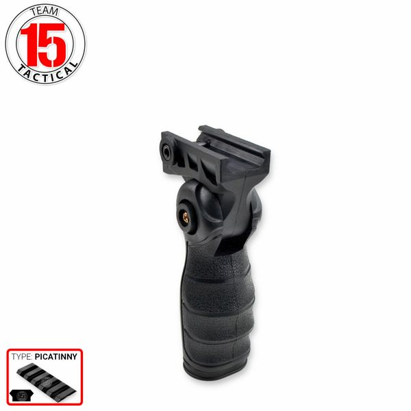 AR15 Foregrip Grip, 5 Position Adjustable, Polymer - Black (GP08)