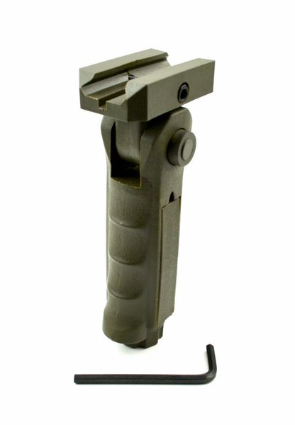 AR15 Foregrip Grip, 5 Position Adjustable, Polymer - Green (GP02-G)