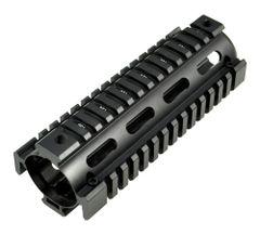 """6.7"""" AR-15 2pc Drop In Handguard Quad Rail for Carbine Length AR15, .223 5.56"""