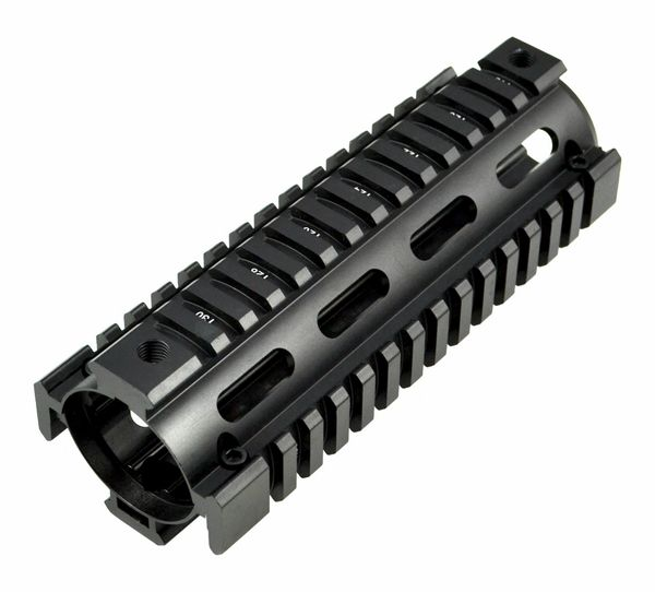 "6.7"" AR-15 2pc Drop In Handguard Quad Rail for Carbine Length AR15, .223 5.56"
