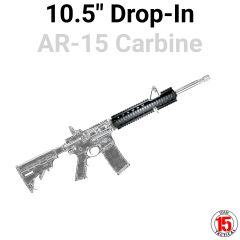 """10.5"""" Extended 3pc Drop-in for AR-15 Carbine .223 5.56"""