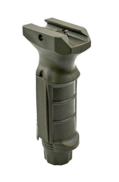 AR15 Foregrip Grip, Fixed Vertical, Polymer - Green (GP04-G)