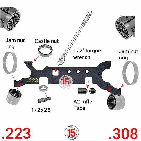 Dual COMBO Wrench AR-15 LR-308 .223/.308 Gunsmith Armorer's Tool