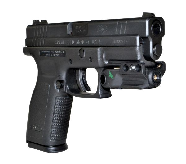 Compact Green Laser for Handgun Pistol Rail, Auto ON & ON/OFF Switch, USBType C Re-Chargeable