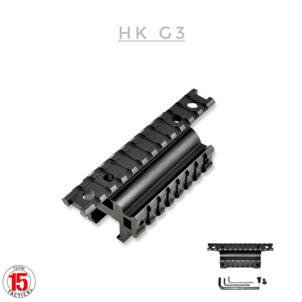 Aftermarket Claw Mount for HK MP5 G3 + Variants - Claw Mount Dual Picatinny Rail Mount - 19 slots - Aluminum - Black