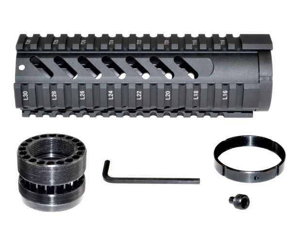 "7"" Free Float Quad Rail Handguard Forend for .223 / 5.56 AR-15 - Picatinny"