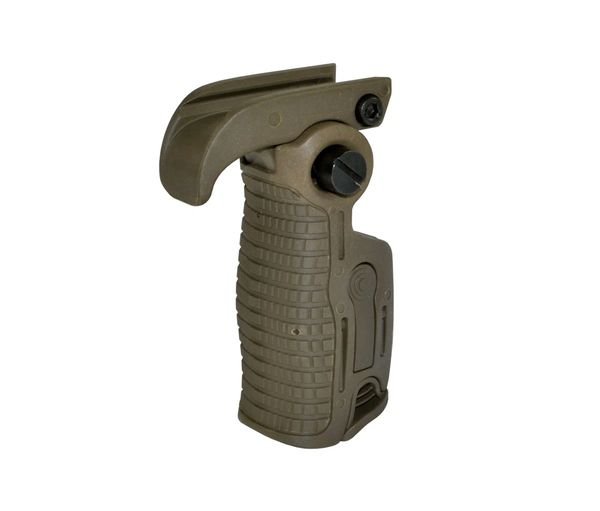 AR-15 Foregrip Grip, Adjustable Position & Height Adjustable, PICATINNY, 5 Position Adjustable, Polymer - OD Green (GP09-G)