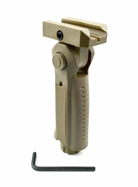 AR15 Foregrip Grip, 5 Position Adjustable, Polymer - Tan (GP02-T)