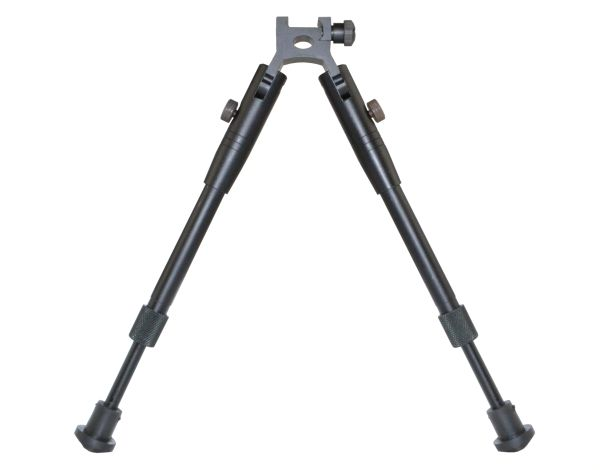 "Tall Bipod for Picatinny Handguard Rail, Aluminum, Folding, Height Adjustable 9.75"" to 12"" (BP05)"