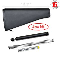 AR-15 A2 Rifle Stock Assembly with Rifle Buffer Tube Kit COMBO
