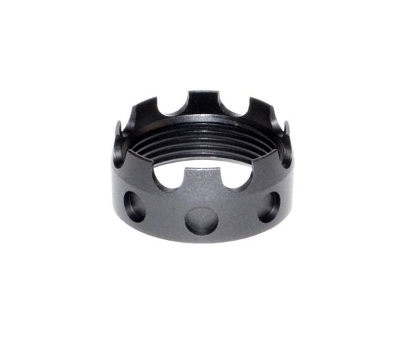 AR 7075-T6 Crown Aluminum Castle Nut, Black