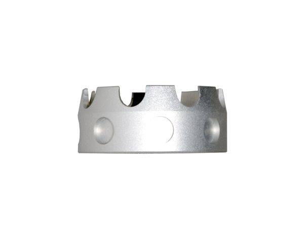 AR 7075-T6 Crown Aluminum Castle Nut, Silver