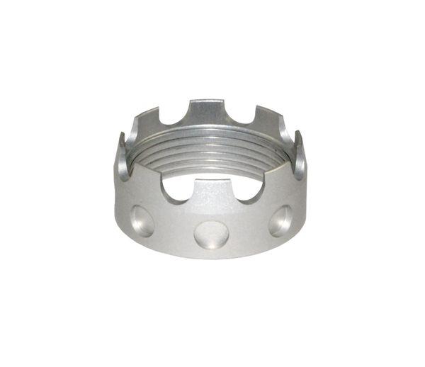 AR 7075-T6 Crown Aluminum Castle Nut, Silver