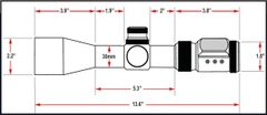 Presma SP Solar Powered Series 3-18X50SFL Precision Scope, OGB RXR Glass Reticle