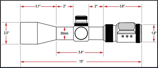 Presma SP Solar Powered Series 4-24X56SFL Precision Scope, OGB RXR Glass Reticle