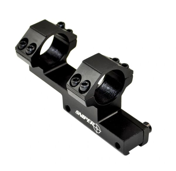 "Dovetail 1"" Scope Mount 1 IN with Integral Cantilever Rings .22 11mm 3/8"" 13mm Narrow Rails"