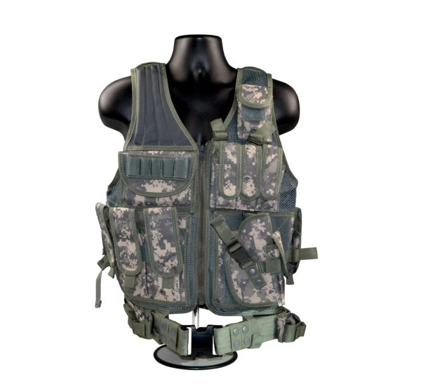 Camouflage Tactical Multi Function Molle Plate Hunting Vest, Green