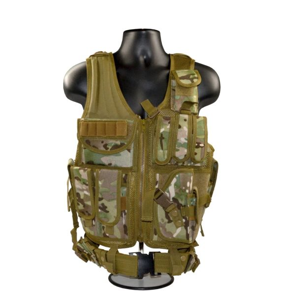 Camoflauge Tactical Multi Function Molle Plate Hunting Vest, Tan