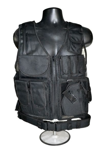 Black Tactical Multi Function Molle Plate Hunting Vest