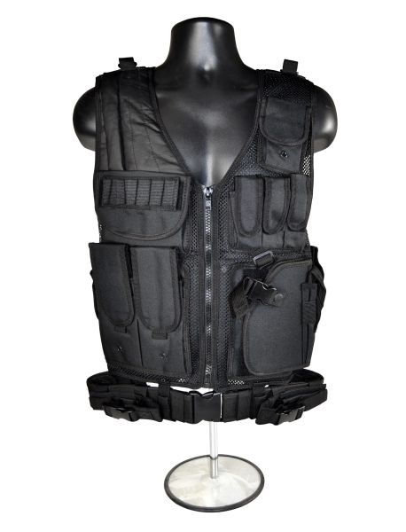Black Tactical Multi Function Molle Plate Vest for Hunting