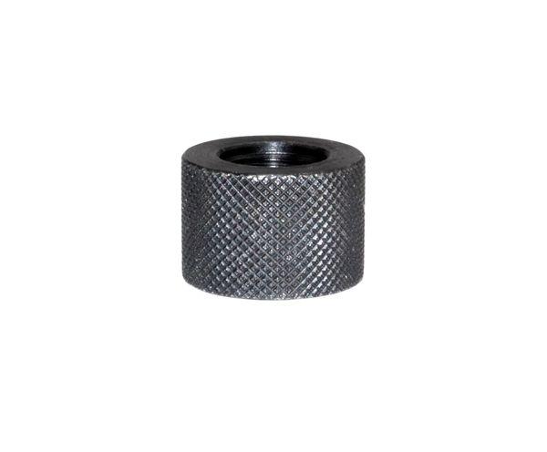 AR-15 BULL Barrel Thread Protector Nut for 1/2 INx28 Muzzle Threading, Black Carbon Steel