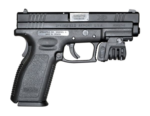 Sniper Grunt Handgun Pistol Compact Green Laser Sight for Picatinny Rail, with Ambidextrous On/Off Switch
