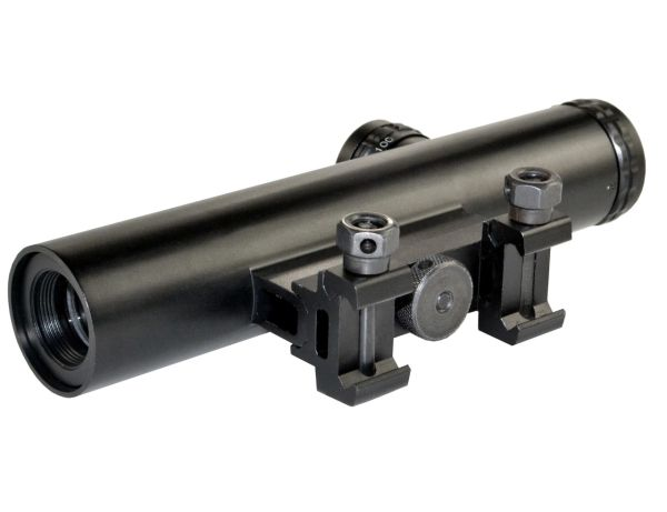 Sniper Grunt 4X20 Compact Scope, Duplex with Carry Handle & Picatinny Mounts