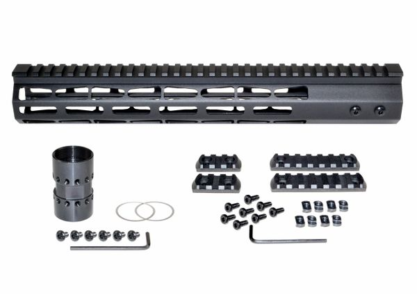 "13"" Presma AR-10 LR 308 Super Light M-LOK Series Free Float Handguards, 13 IN DPMS Low Profile"