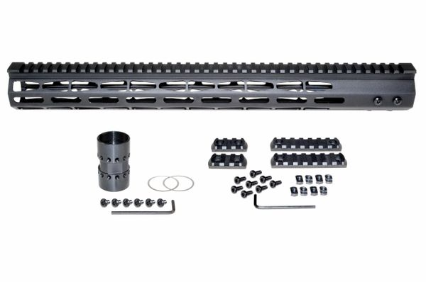"17"" Presma AR-10 LR 308 Super Light M-LOK Series Free Float Handguards, 17 IN DPMS Low Profile"