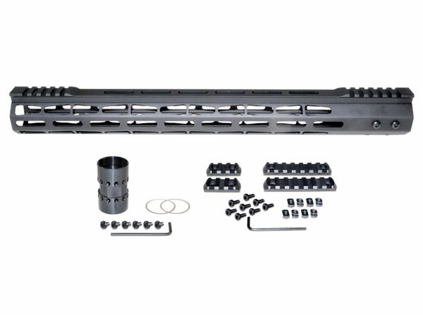 "17"" Presma LR 308 DPMS LOW Super Light M-LOK Series Free Float Handguards with Split Top Rail"