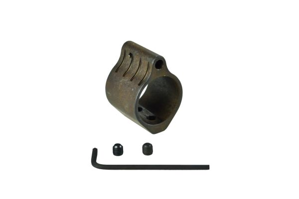 "0.936""AR Low Profile Gas Block, 0.936 IN�, Black Steel with Ridges"