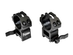 Presma 30mm Quick Release High Profile Scope Rings for Picatinny Rails