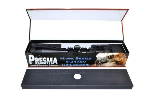 Presma RXR Professional Series 6-24X50 Precision Scope, RGB RXR Glass Reticle