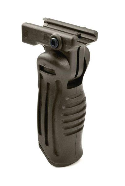 AR15 Foregrip Grip, 5 Position Adjustable, Polymer - Brown/Green (GP17-G)