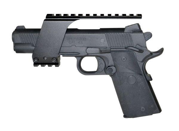 Pistol Handgun Top Rail Mount for Laser or Red Dot Sight, Aluminum