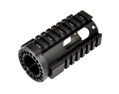 "4"" Pistol Length Free Float Quad Rail Handguard with Oval Cutout for .223 / 5.56 AR-15"