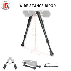 M-LOK Bipod,Wide Stance, Height Adjustable Bipod Legs, for M-LOK Handguard Slots