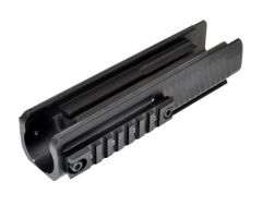 Lower Forend Handguard Tri Rail for Remington 870 Shotgun - Aluminum - Black