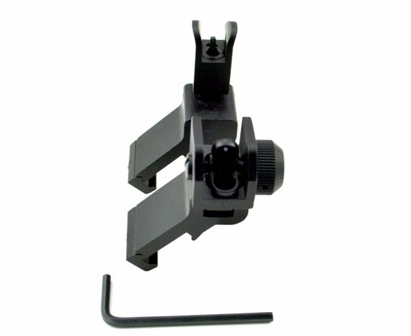 AR Front & Rear 45 Degree Offset Flip Iron Sights - Flip-up - Aluminum - Black