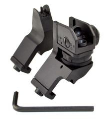AR Front & Rear 45 Degree Offset A1 A2 Iron Sights - Aluminum - Black