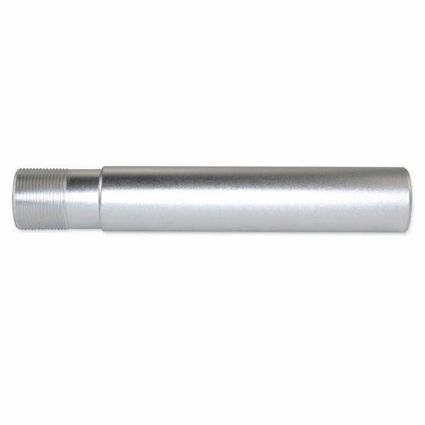 "AR-15 Pistol Buffer Tube, Aluminum, 1.24"" OD, Silver"