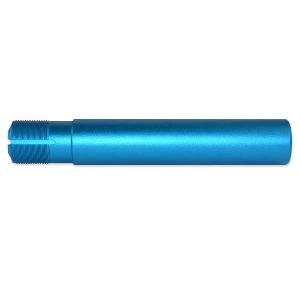 """AR-15 Pistol Buffer Tube, Aluminum, 1.24"""" OD, Blue"""