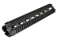 "12"" Rifle Length 12 INCH 2 Piece Drop-In Quad Rail Handguard Mount for AR15 .223 - For Triangular shaped Handguard End Cap - Aluminum - Black"
