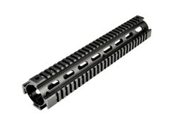 "12"" Rifle Length 2pc Drop In Quad Rail Handguard DPMS .308 Low Profile, [for ROUND End Cap]"